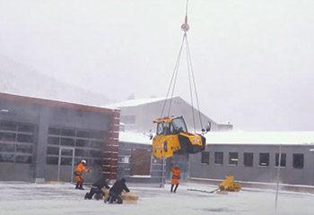 vorschaubild helikopter transport jcb bauteil teleskoplader
