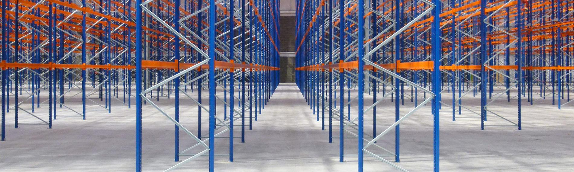 regalsystem blau orange halle