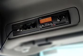 digitaler tachograph in fuehrerhaus