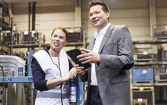 materialflussplanung analyse gespraech mit mitarbeiterin