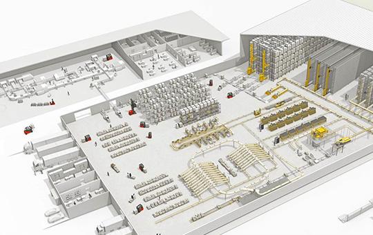materialflussplanung mit 3d software