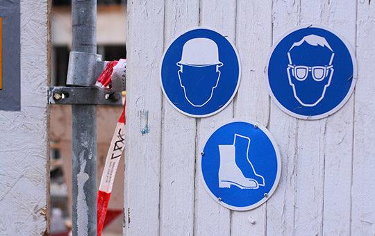 blaue schilder anweisung arbeitsschutz
