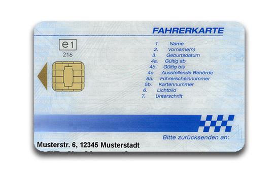 fahrerkarte digitaler tachograph