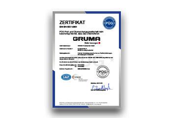 umweltmanagement gruma zertifikat