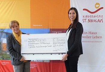 vorschaubild kinderhospiz st nikolaus spende gruma 10000 euro