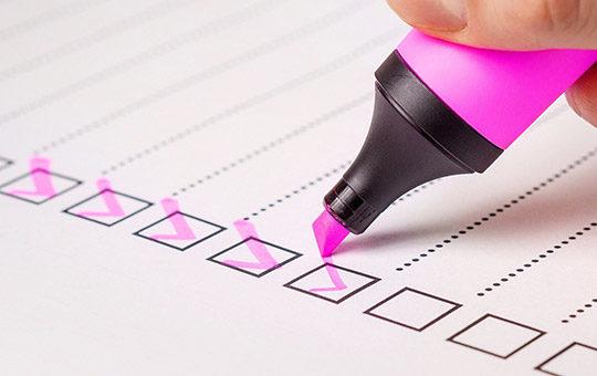 checkliste voraussetzungen haken marker liste