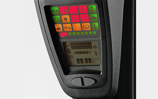 linde safety pilot anzeige kontrolle farbe bildschirm
