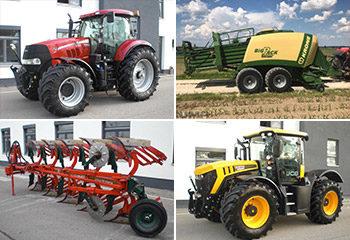 collage gebrauchtmaschinen landtechnik traktor maehdrescher fasttrac vario