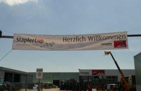herzlich willkommen banner staplercup 2019