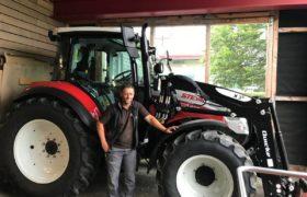 steyr traktor rot weiss
