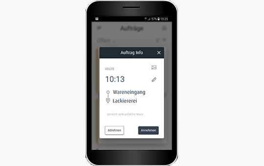 truck call app funktion smartphone screenshot auftrag ablehnen annehmen 3