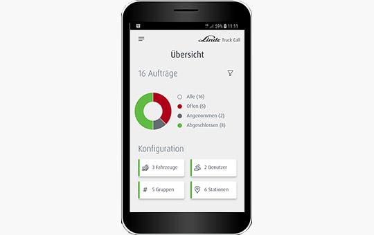 truck call app funktion smartphone screenshot offene auftraege 3