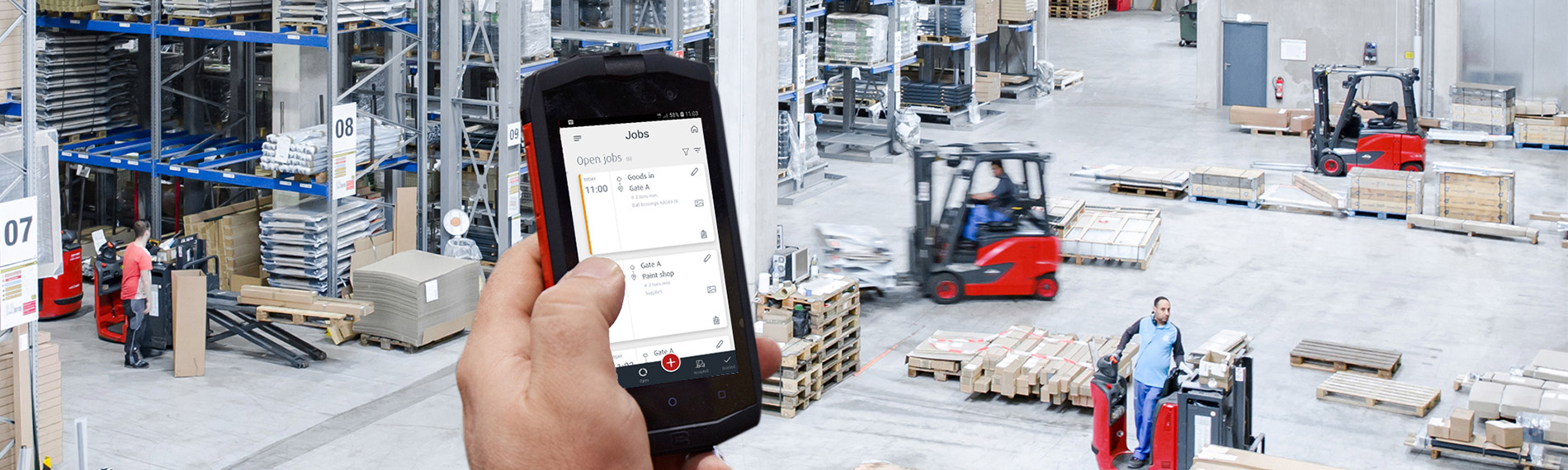 truck call app lagerhalle smartphone