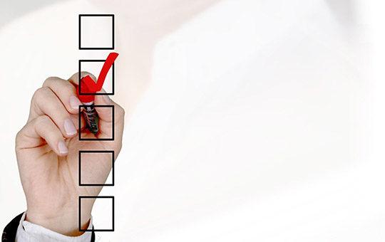 checkliste abhaken