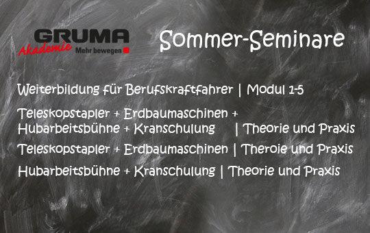 gruma akademie sommer seminar tafel angebote schulungen