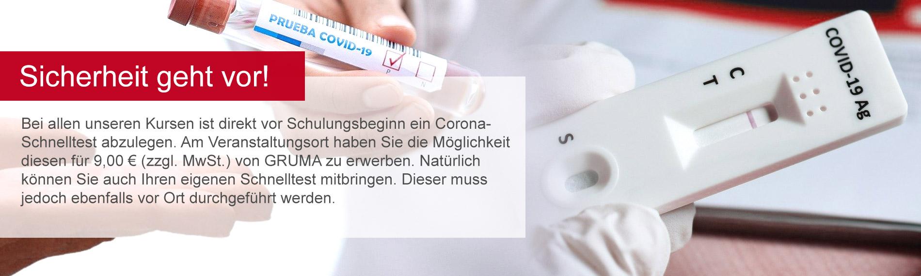 Banner corona schnelltest fuer GRUMA Akademie