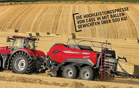 case ballenpresse sonderaktion case traktor mit twinpro auf feld rot 1