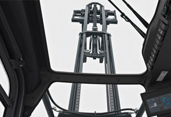 elektronische daempfung der mastendlagen blick auf mast von unten