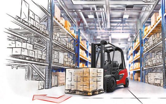 schematische zeichnung linde warehouse navigator