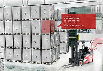 vorschaubild dreidimensionale ansicht des lagers mit dem linde warehouse navigator